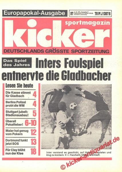 Kicker Sportmagazin Nr. 97, 2.12.1971 bis 8.12.1971