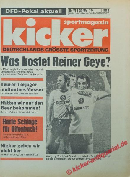 Kicker Sportmagazin Nr. 71, 2.9.1976 bis 8.9.1976