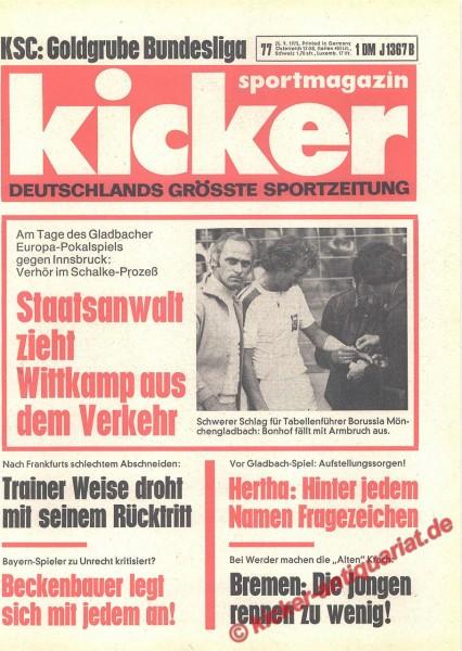 Kicker Sportmagazin Nr. 77, 25.9.1975 bis 1.10.1975
