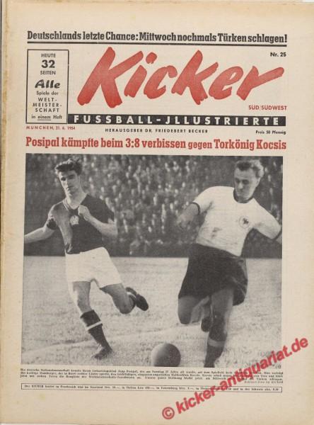 Kicker Nr. 25, 21.6.1954 bis 27.6.1954