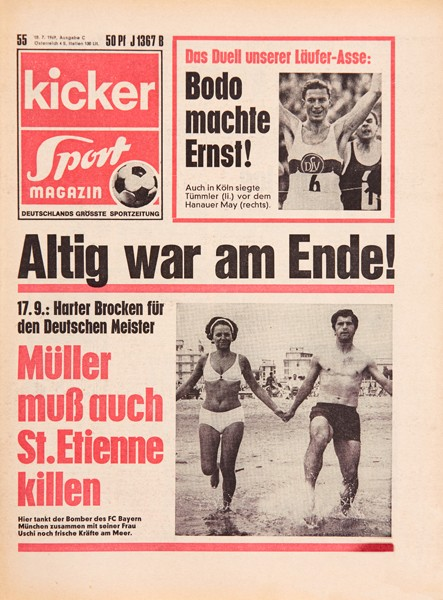 Kicker Sportmagazin Nr. 55, 10.7.1969 bis 16.7.1969