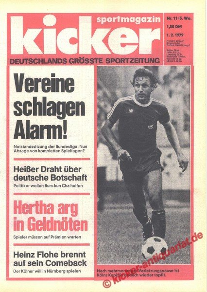 Kicker Sportmagazin Nr. 11, 1.2.1979 bis 7.2.1979