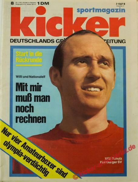 Kicker Sportmagazin Nr. 8, 25.1.1971 bis 31.1.1971