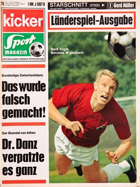 Kicker Sportmagazin Nr. 76, 22.9.1969 bis 28.9.1969