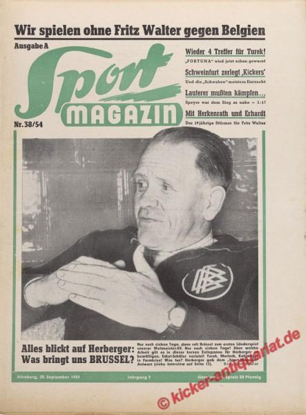 Sportmagazin Nr. 38A, 20.9.1954 bis 26.9.1954