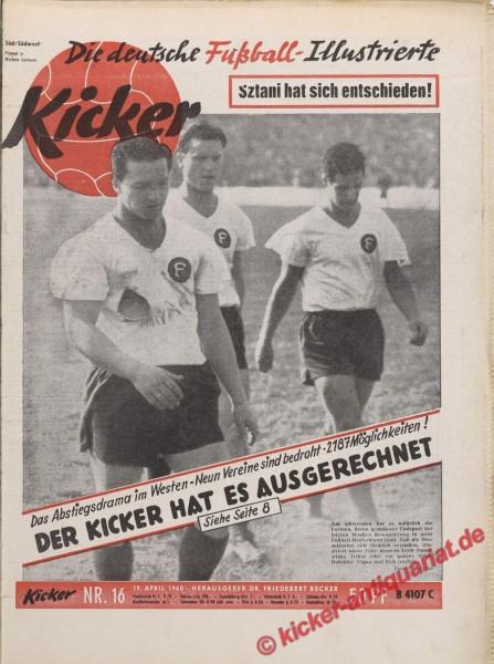 Kicker Nr. 16, 19.4.1960 bis 25.4.1960