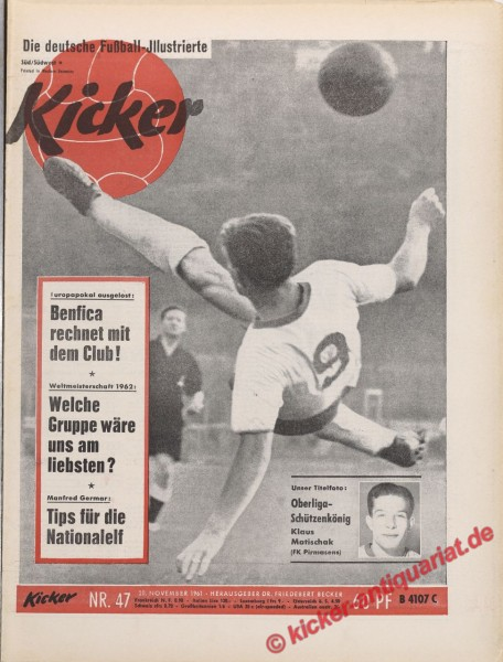 Kicker Nr. 47, 20.11.1961 bis 26.11.1961