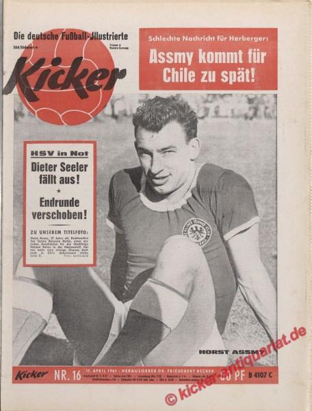 Kicker Nr. 16, 17.4.1961 bis 23.4.1961
