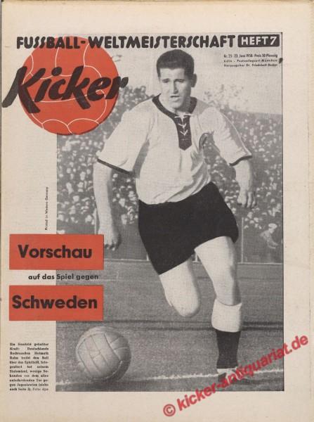 Kicker Nr. 25, 23.6.1958 bis 29.6.1958