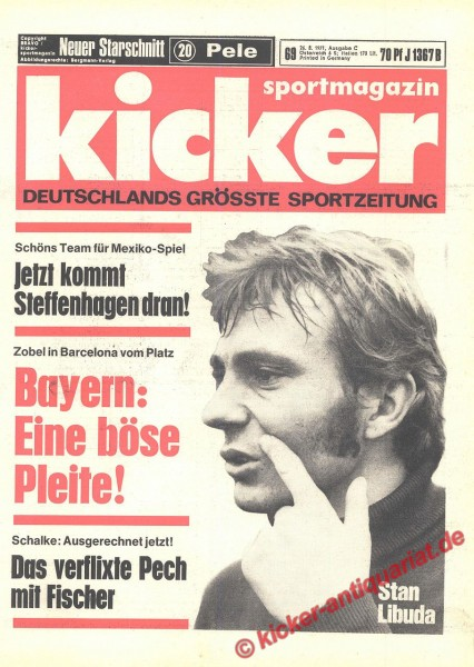 Kicker Sportmagazin Nr. 69, 26.8.1971 bis 1.9.1971