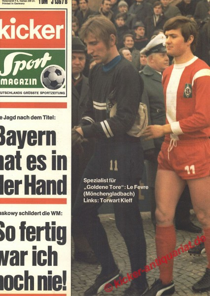 Kicker Sportmagazin Nr. 24, 23.3.1970 bis 29.3.1970