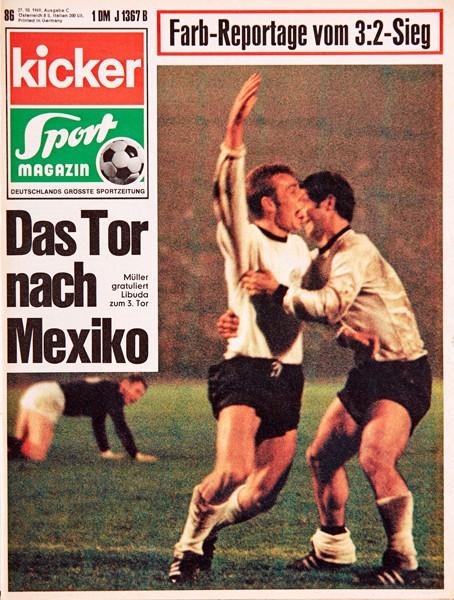 Kicker Sportmagazin Nr. 86, 27.10.1969 bis 2.11.1969