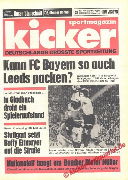 Kicker Sportmagazin Nr. 33, 24.4.1975 bis 30.4.1975