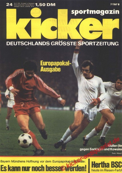 Kicker Sportmagazin Nr. 24, 24.3.1975 bis 30.3.1975