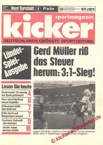 Kicker Sportmagazin Nr. 53, 1.7.1971 bis 7.7.1971