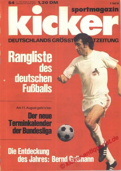 Kicker Sportmagazin Nr. 54, 2.7.1973 bis 8.7.1973