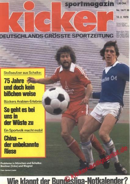 Kicker Sportmagazin Nr. 14, 12.2.1979 bis 18.2.1979