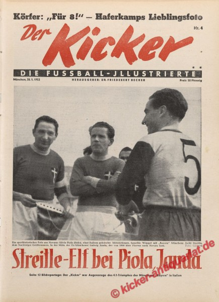 Kicker Nr. 4, 28.1.1952 bis 3.2.1952