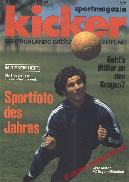 Kicker Sportmagazin Nr. 22, 15.3.1971 bis 21.3.1971