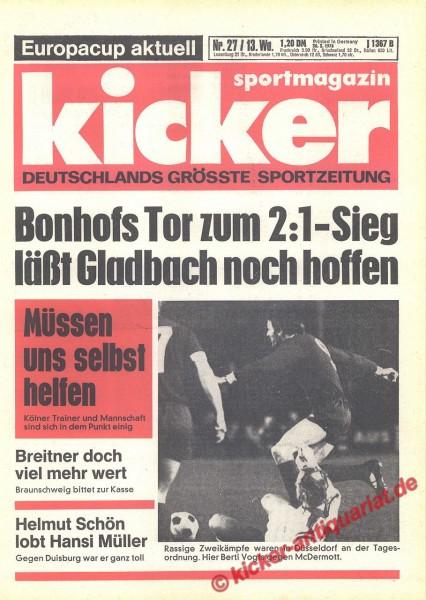 Kicker Sportmagazin Nr. 27, 30.3.1978 bis 5.4.1978