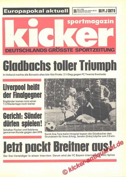 Kicker Sportmagazin Nr. 35, 26.4.1973 bis 2.5.1973