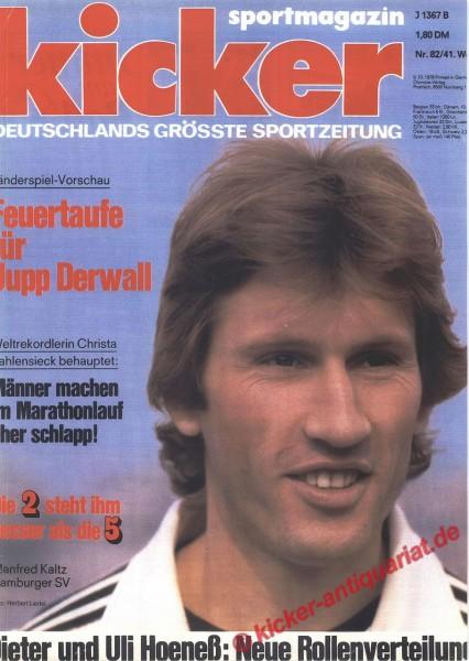 Kicker Sportmagazin Nr. 82, 9.10.1978 bis 15.10.1978