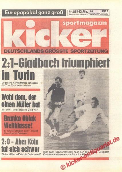 Kicker Sportmagazin Nr. 85, 21.10.1976 bis 27.10.1976
