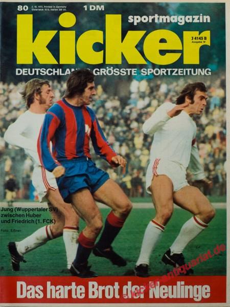 Kicker Sportmagazin Nr. 80, 2.10.1972 bis 8.10.1972