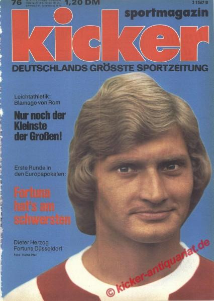 Kicker Sportmagazin Nr. 76, 16.9.1974 bis 22.9.1974