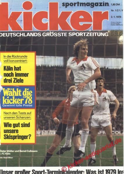 Kicker Sportmagazin Nr. 1, 2.1.1979 bis 8.1.1979