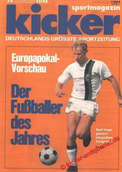 Kicker Sportmagazin Nr. 74, 13.9.1971 bis 19.9.1971
