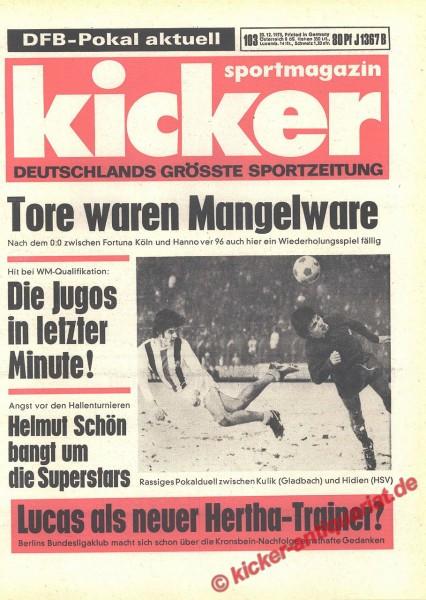 Kicker Sportmagazin Nr. 103, 20.12.1973 bis 26.12.1973