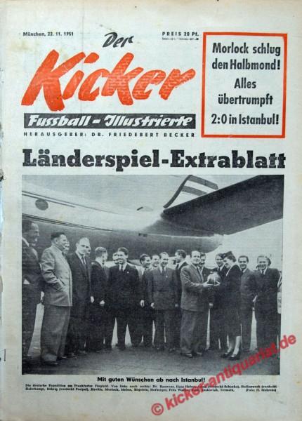 Kicker Nr. 0, 22.11.1951 bis 28.11.1951