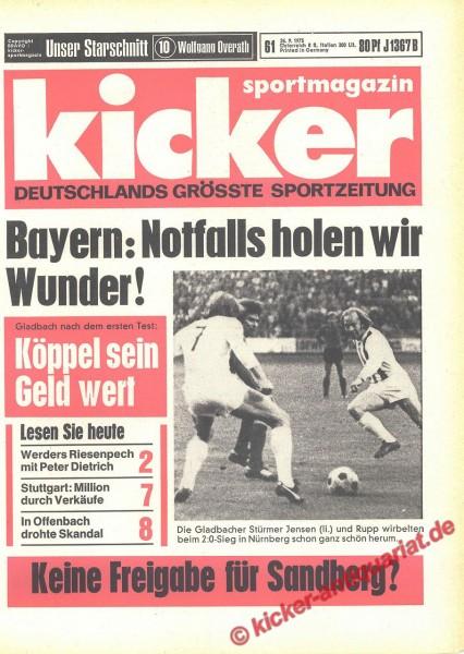 Kicker Sportmagazin Nr. 61, 26.7.1973 bis 1.8.1973