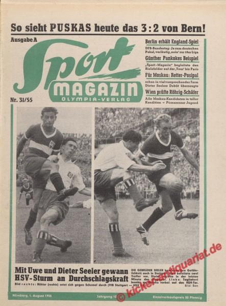 Sportmagazin Nr. 31A, 1.8.1955 bis 7.8.1955