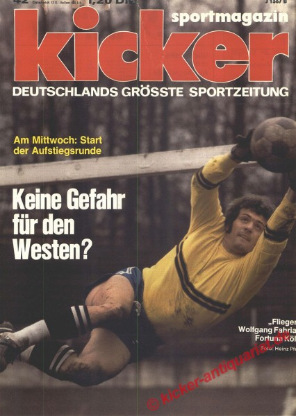 Kicker Sportmagazin Nr. 42, 21.5.1973 bis 27.5.1973