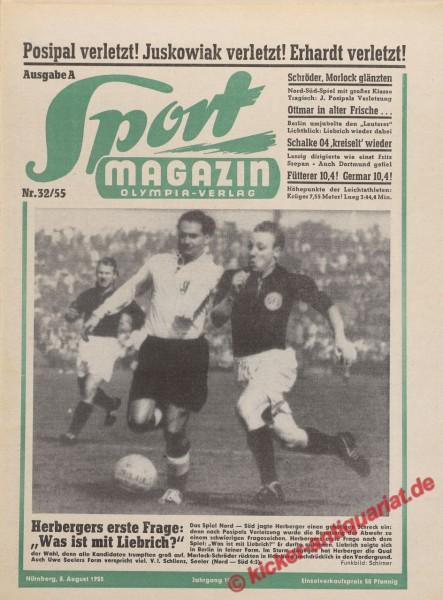 Sportmagazin Nr. 32A, 8.8.1955 bis 14.8.1955