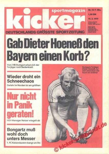Kicker Sportmagazin Nr. 15, 15.2.1979 bis 21.2.1979