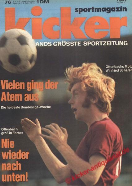 Kicker Sportmagazin Nr. 76, 21.9.1970 bis 27.9.1970