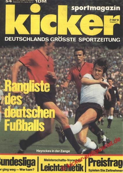 Kicker Sportmagazin Nr. 54, 5.7.1971 bis 11.7.1971