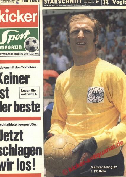 Kicker Sportmagazin Nr. 56, 13.7.1970 bis 19.7.1970