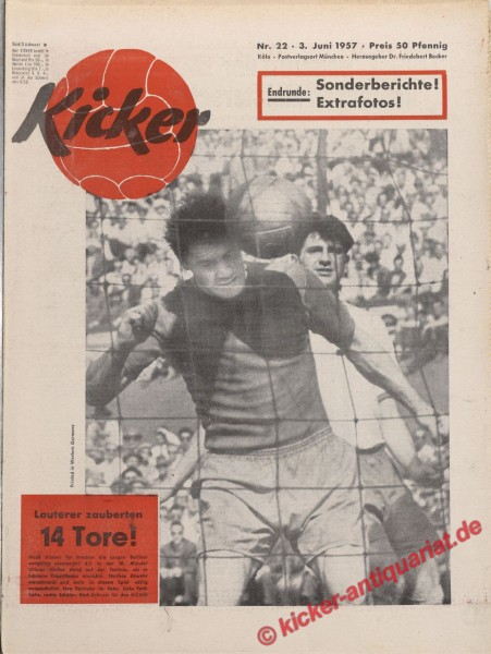 Kicker Nr. 22, 3.6.1957 bis 9.6.1957