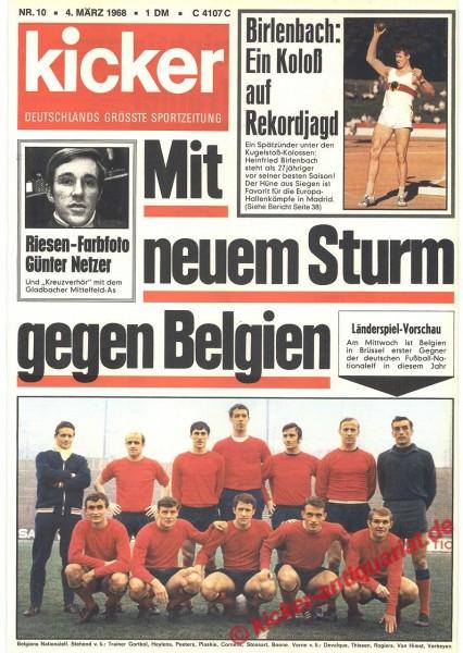 Kicker Sportmagazin Nr. 10, 4.3.1968 bis 10.3.1968