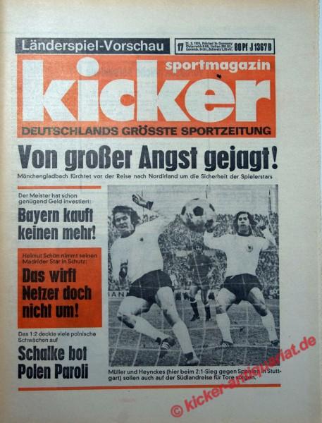 Kicker Sportmagazin Nr. 17, 21.2.1974 bis 27.2.1974
