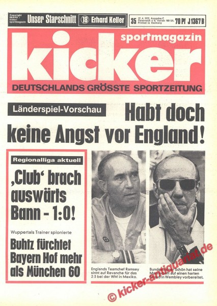 Kicker Sportmagazin Nr. 35, 27.4.1972 bis 3.5.1972