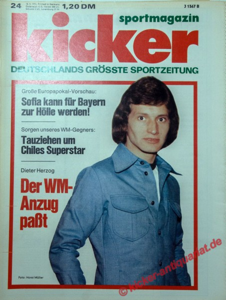 Kicker Sportmagazin Nr. 24, 18.3.1974 bis 24.3.1974