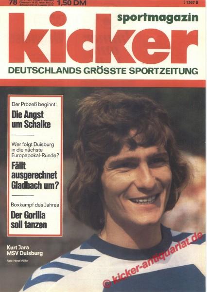 Kicker Sportmagazin Nr. 78, 29.9.1975 bis 5.10.1975