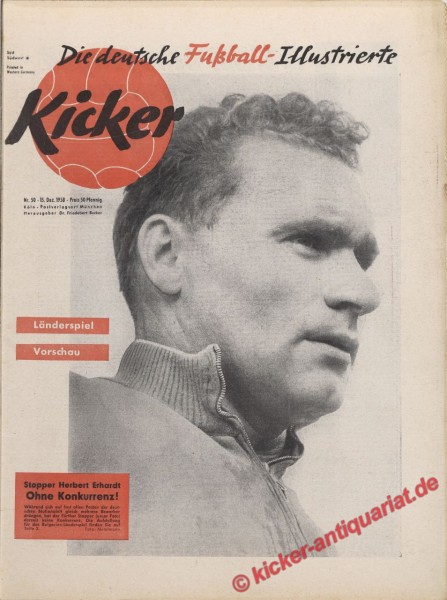 Kicker Nr. 50, 15.12.1958 bis 21.12.1958