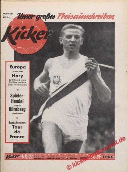 Kicker Nr. 27, 4.7.1960 bis 10.7.1960