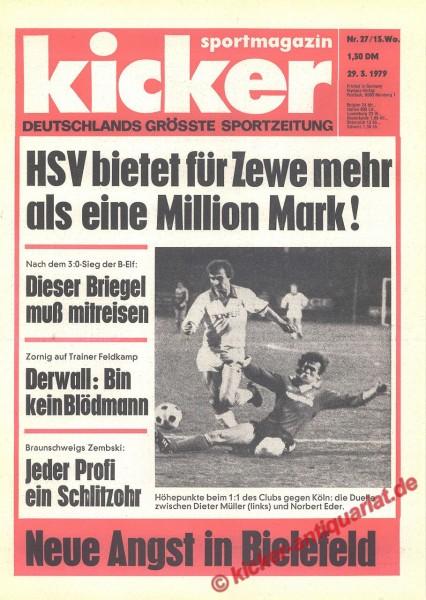Kicker Sportmagazin Nr. 27, 29.3.1979 bis 4.4.1979